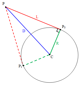 Description This example shows how to find the tangent lines between a ...