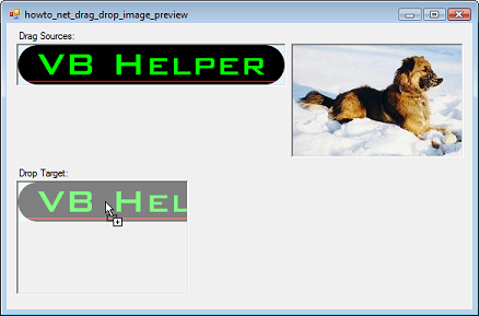 drag and drop images while displaying a preview in visual basic  net